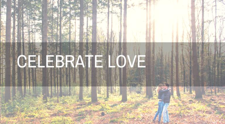 celebrate love in het bos